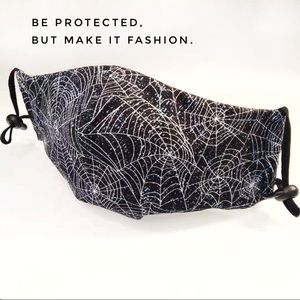 🕸️ Spider web. 3 layers Washable Cotton Mask.